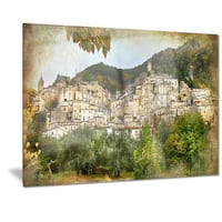 Designart 'Old Italian Villages' Landscape Photography Metal Wall Art