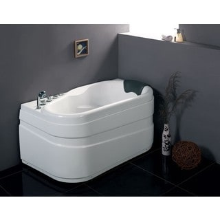 Eago AM175-L White Acrylic 5' Left Drain Corner Whirpool Bathtub