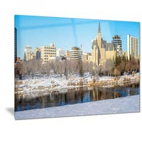 Designart 'Saskatoon Skyline' Landscape Photo Metal Wall Art
