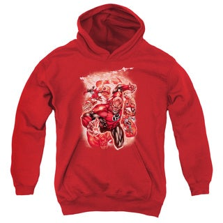 Green Lantern/Red Lanterns #1 Youth Pull-Over Hoodie in Red