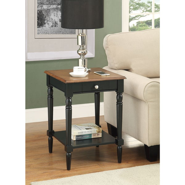 Convenience Concepts French Country End Table With Drawer And Shelf   Free  Shipping Today   Overstock.com   18769020