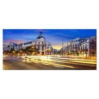 Designart 'Madrid City Center' Cityscape Photography Metal Wall Art