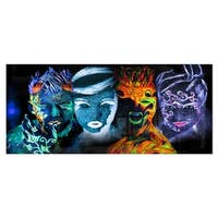 Designart 'Earth Fire Air and Water' Abstract Portrait Metal Wall Art