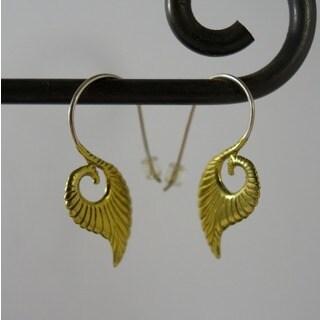 Spirit Silvertone Brass Swanlake Hook Earrings (Indonesia)
