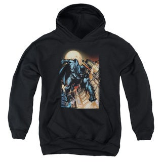 Batman/The Dark Knight #1 Youth Pull-Over Hoodie in Black