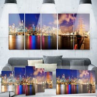 Designart 'Colorful Sydney Skyline' Cityscape Photography Metal Wall Art