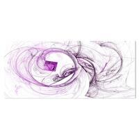 Designart 'Billowing Smoke Purple' Abstract Digital Art Metal Wall Art