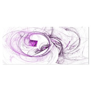 Designart 'Billowing Smoke Purple' Abstract Digital Art Metal Wall Art