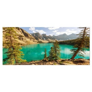 Designart 'Moraine Lake in Banff National Park' Landscape Metal Wall Art