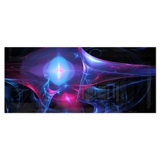 Designart 'Blue Bright Candle' Abstract Digital Art Metal Wall Art