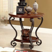 Copper Grove Finnich Elegant Round Top End Table