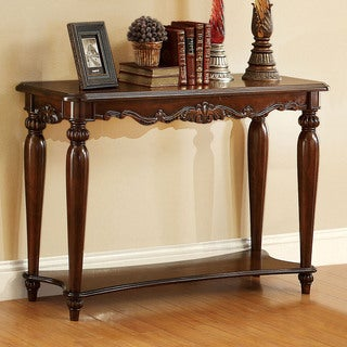 Furniture of America Macelli Traditional Cherry Sofa Table