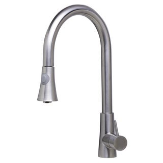 ALFI AB2034-BSS Brushed Pull-down Single-hole Kitchen Faucet