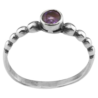 Haven Park SS Purple Cubic Zirconia Solitaire