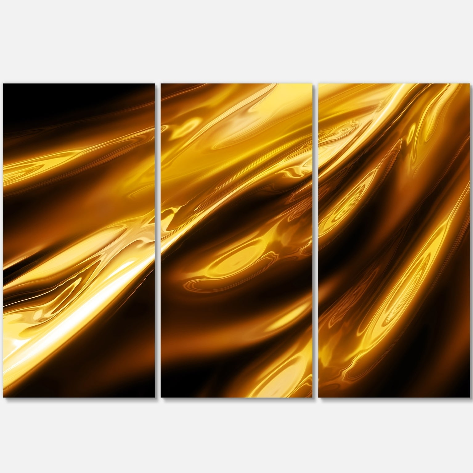 Designart 'Liquid Gold Texture Pattern' Abstract Digital Art Multi 36 in.  wide x | eBay