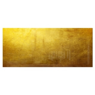 Designart 'Gold Texture Wallpaper' Abstract Digital Art Metal Wall Art