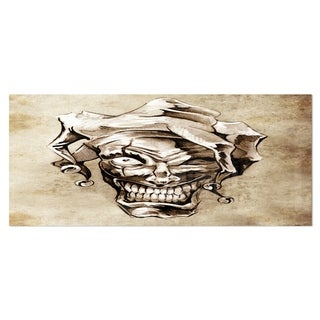 Designart 'Fantasy Clown Joker' Portrait Digital Art Metal Wall Art