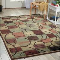 Nourison Expressions Brown Rug - 9'6 x 13'6