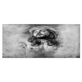 Designart 'Jesus Christ' Portrait Digital Art Metal Wall Art