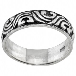 Haven Park Sterling Silver Wave Design Ring