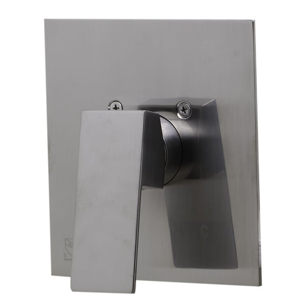 ALFI brand Brushed Nickel Shower Valve Mixer with Square Handle. Opens flyout.