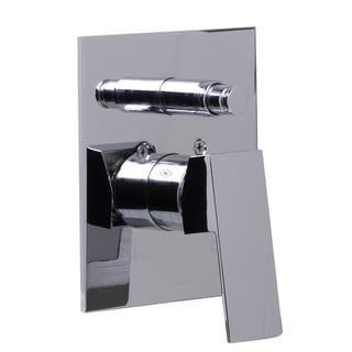 ALFI Polished Chrome Brass Square Lever Shower Valve Mixer