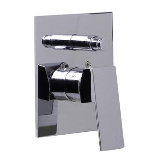 ALFI Polished Chrome Brass Square Lever Shower Valve Mixer