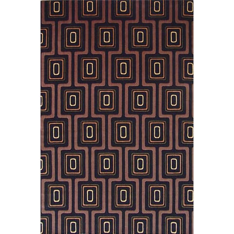 Tate 8510 Black City Grid Rug