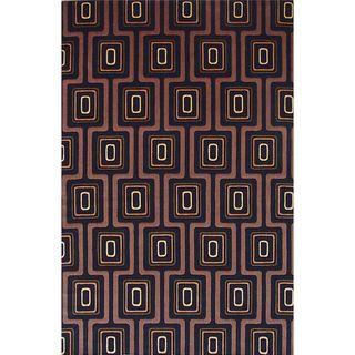 Tate 8510 Black City Grid (2' x 3') Rug