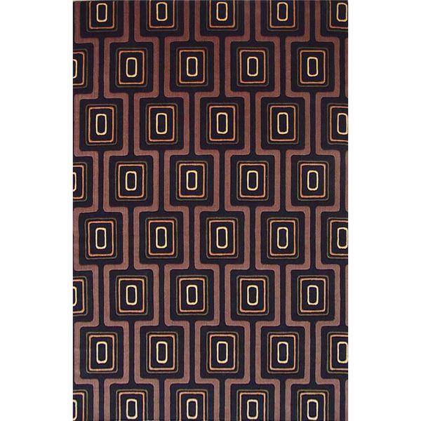 Tate 8510 Black City Grid Rug - 2' x 3'