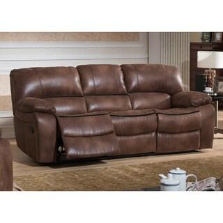 Leighton Brown Transitional Reclining Sofa
