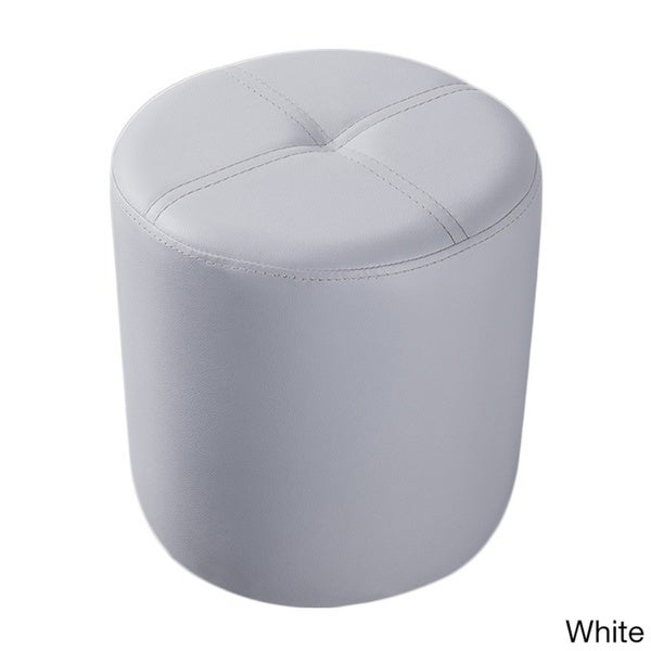 Porch u0026 Den LoDo Wynkoop Round Upholstered Stool Ottoman - Free Shipping On Orders Over $45 - Overstock.com - 18769647  sc 1 st  Overstock.com & Porch u0026 Den LoDo Wynkoop Round Upholstered Stool Ottoman - Free ... islam-shia.org