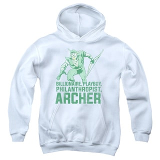 DC/Archer Youth Pull-Over Hoodie in White