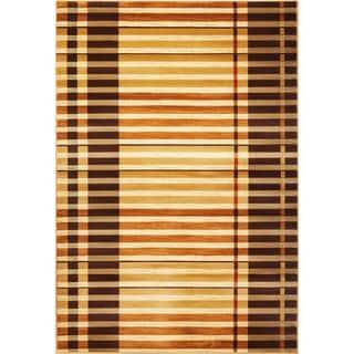 "Lifestyles 5475 Earthtone Stripes (23"" x 35"") Rug"