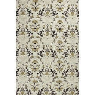 "Mulberry 3408 Ivory Allover Tapestry (27"" x 45"") Rug"