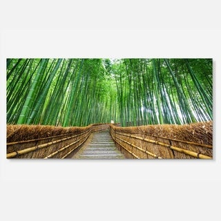Designart 'Path to Bamboo Forest' Landscape Photo Metal Wall Art