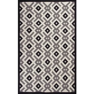 "Solstice 4003 Black & White Diamonds (27"" x 45"") Rug"