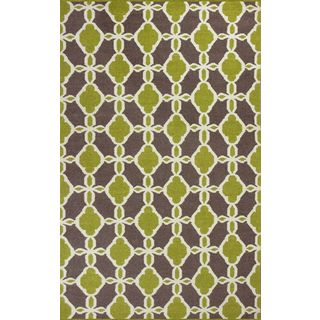 "Solstice 4007 Citron/Taupe Serenity (27"" x 45"") Rug"
