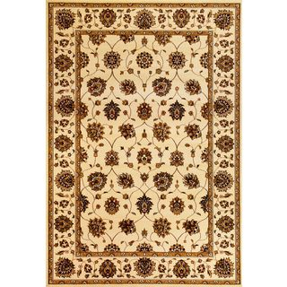 "Cambridge 7347 Ivory Tabriz (2'2"" x 7'11"") Runner Rug"