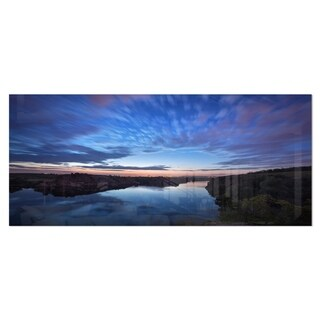 Designart 'Clouds Reflection in River' Landscape Photo Metal Wall Art