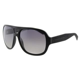 Marc by Marc Jacobs MMJ 483/S DL5 Matte Black Plastic Aviator  Grey Gradient Polarized Lens  Sunglasses