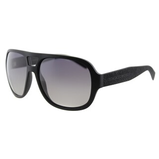 Marc by Marc Jacobs MMJ 483/S DL5 Matte Black Plastic Aviator Grey Gradient Polarized Lens Sunglasses