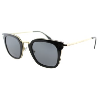 Celine CL 41402 ANW Black Gold Plastic Square Grey Lens Sunglasses