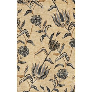 "Florence 4576 Ivory/Blue Wildflowers (2'3"" x 7'6"") Runner Rug"