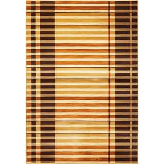 "Lifestyles 5475 Earthtone Stripes (2'3"" x 7'7"") Runner Rug"