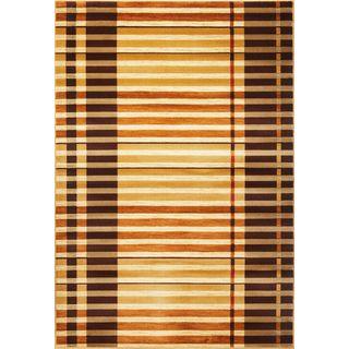"""Lifestyles 5475 Earthtone Stripes (2'3"""" x 7'7"""") Runner Rug"""