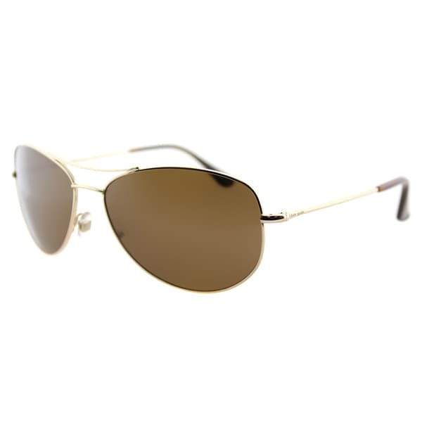 d110bffaa0ae Kate Spade KS Ally P/S 3YGP Gold Metal Aviator Brown Polarized Lens  Sunglasses