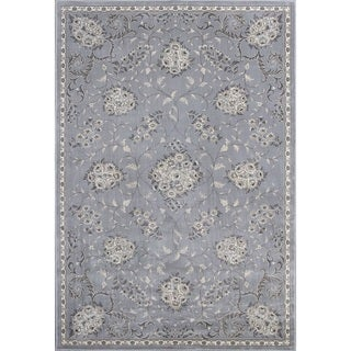 "Montecarlo IV 5190 Silver Bouquets (2'2"" x 7'10"") Runner Rug"