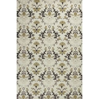 "Mulberry 3408 Ivory Allover Tapestry (2'3"" x 7'6"") Runner Rug"