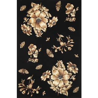 "Ruby 8880 Black Elegance (2'3"" x 7'6"") Runner Rug"